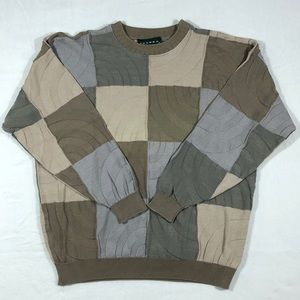 Tundra Canada Vintage Color Block Sweater XL Brown